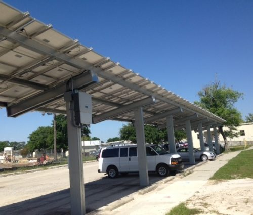 Design-Build Install Solar Parking Canopy & Water Heating System